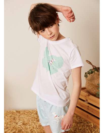 Conjunto Bañador Dadati Dálmata Verde Agua y Camiseta Niño