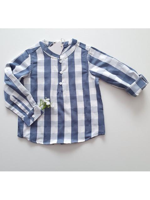 Camisa Dadati de cuadros azul y blanco niño