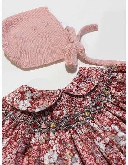 Vestido Smock Flores Granate DBB Ideas