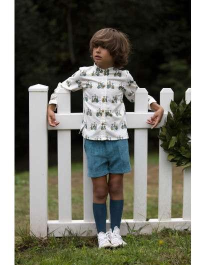 Camisa Kids Chocolate VESPAS Niño