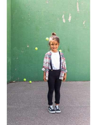 Pantalón Tirantes Baby Paris Jogging Negro De Niña