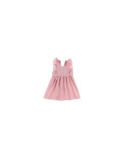 Vestido Pichi Rosa Dadati Rosa con Volantes Niña