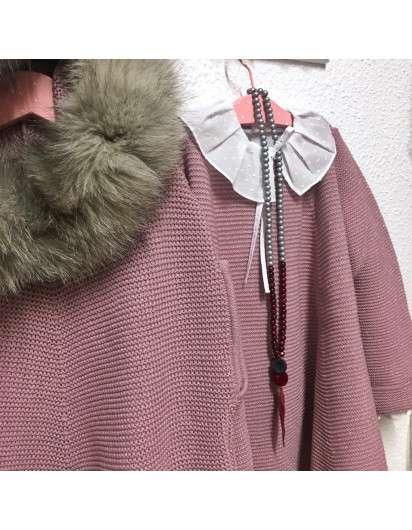 Vestido BELLA BIMBA Punto Rosa Lurex . Coleccion Amatista