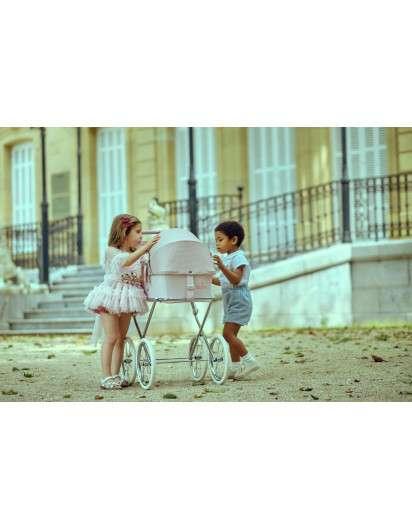Carrito de muñeca Bebelux Sweet Love con Bolso Panera