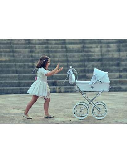 Carrito de muñeca Bebelux Sweet Perla con Bolso Panera
