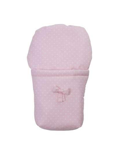 Saco Bebelux rosa estrellas blancas para silla