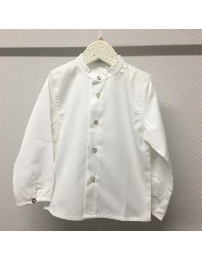 Camisa Pilar Batanero Blanca Cuello Mao
