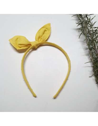 Diadema Orejas Plumeti Amarillo