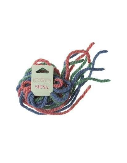 Cordón de Lana Pack Rosa Azul Verde 6 ud Siena