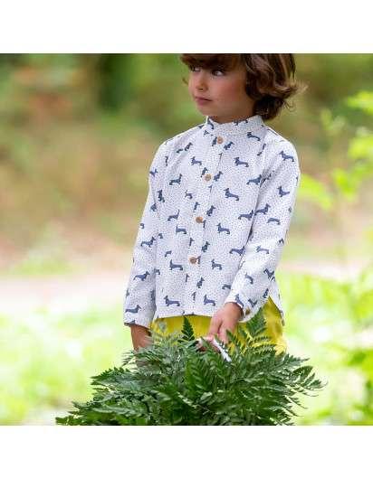 Camisa Kids Chocolate Teckel Magic  Nino