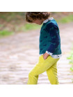 Pantalon Kids Chocolate Pana Amarillo Pitillo Unisex