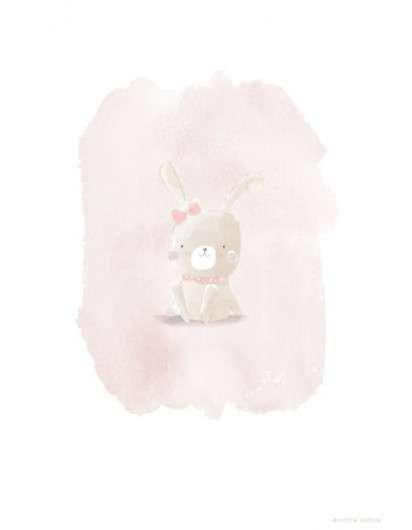 Poster Personalizado Conejo Rosa