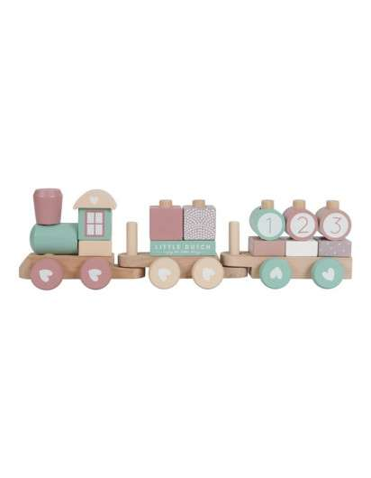 Tren de madera ADVENTURE ROSA LITTLE DUTCH