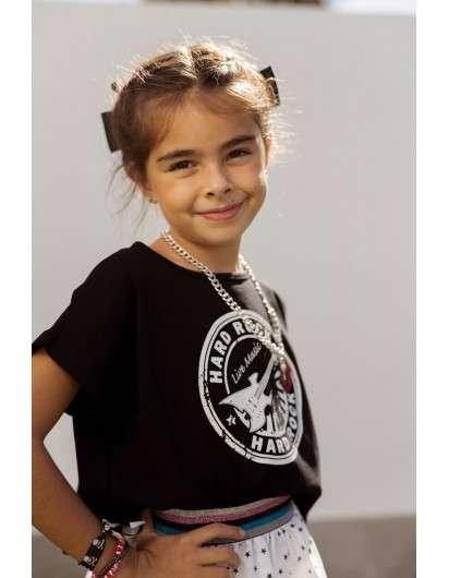 Conjunto Estrellas Mon Petit Bonbon Falda y  Camiseta