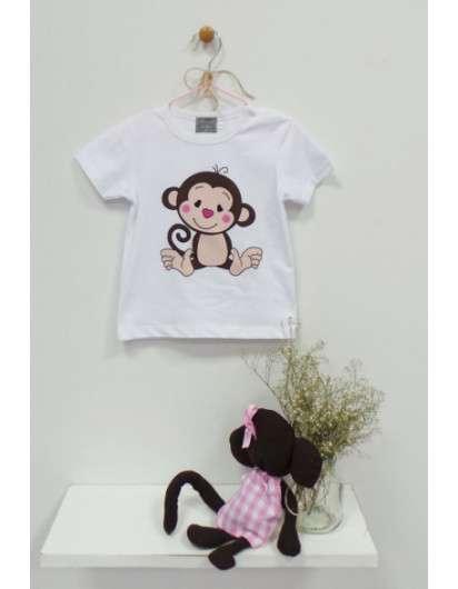 Camiseta Monitos Mon Petit Bonbon Niño