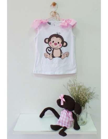 Camiseta Monito Mon Petit Niña