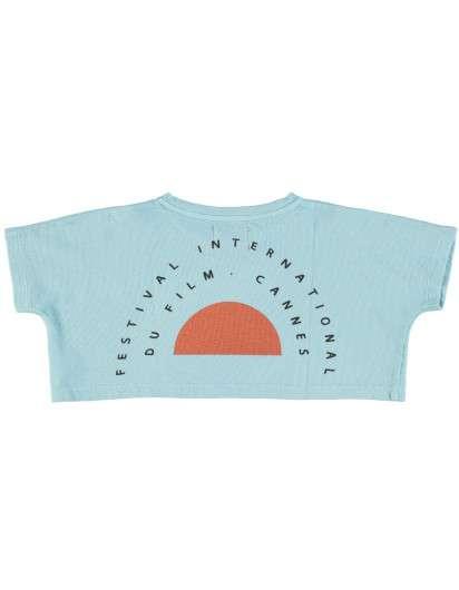 Camiseta Piupiuchick Azul Palme dor NIña