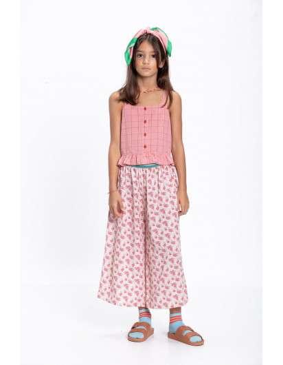 Pantalón Culotte Top Piupiuchick  Flores Rosa Niña