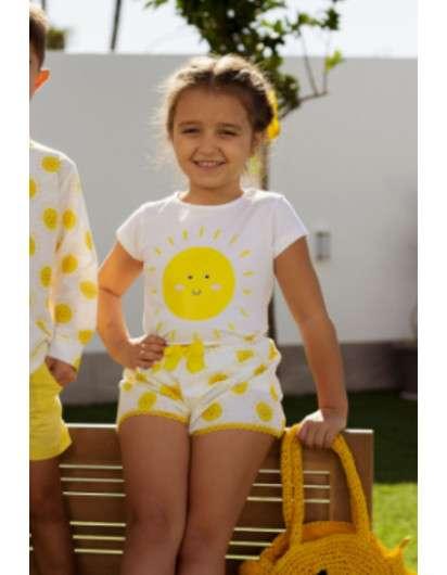 Conjunto Soles Mon Petit Bonbon Camiseta y Short Niña