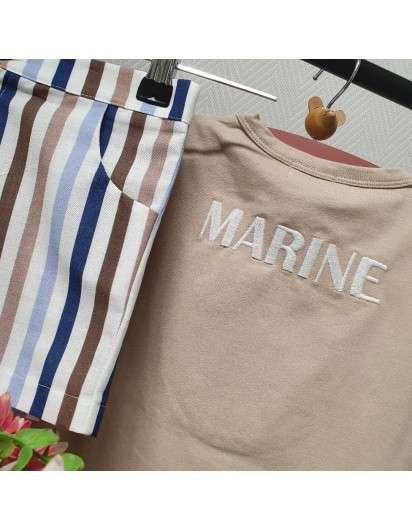 Conjunto Marinero Mon Petit Bonbon Bombacho Camiseta Niño