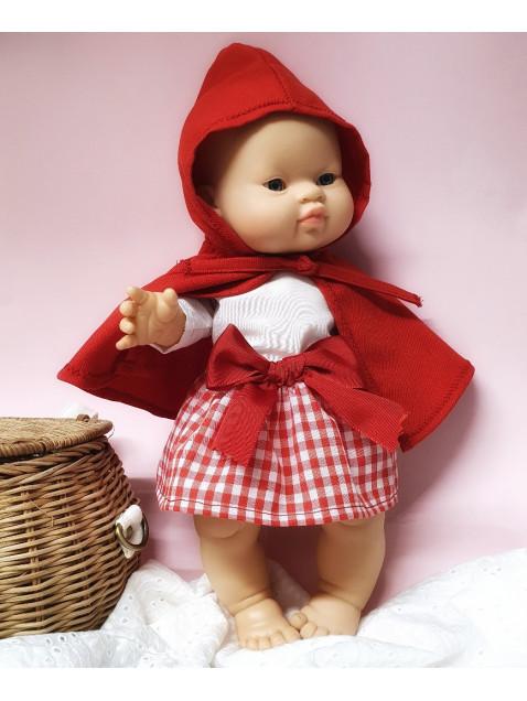 Disfraz Caperucita Roja Ropa hecha a medida 34 cm | Candidas Dolls