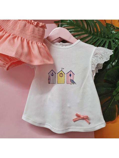 Conjunto Casetas Valentina Bebes Niña Braga y Camiseta