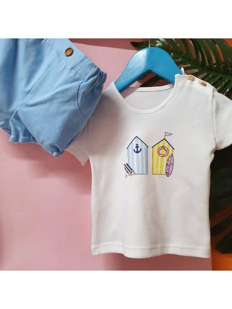 Conjunto Casetas Valentina Bebes Niño Bermuda y Camiseta