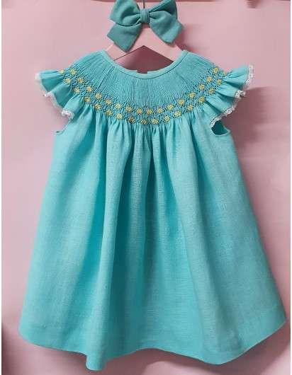 Vestido Smock Azul Turquesa DBB Ideas