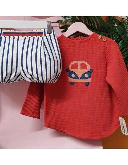 Conjunto Marinero Van Valentina Bebes Niño Bermuda y Sudadera