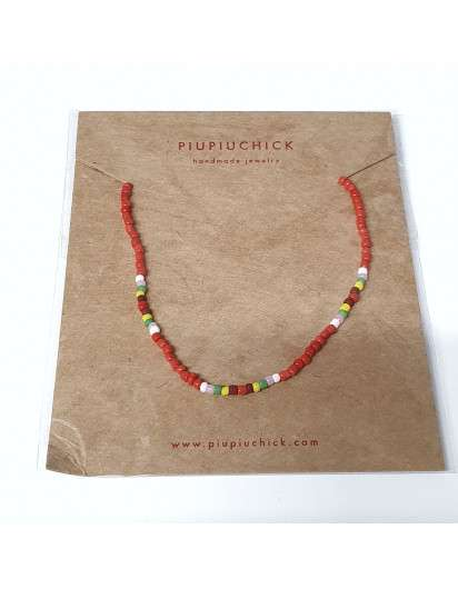 Collar Semillas PiuPiuchick Rojo