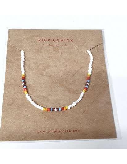 Collar Semillas PiuPiuchick Blanco