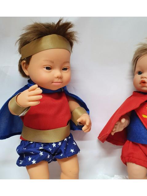 Disfraz Superhéroe Gordi Ropa hecha a medida 34 cm | Candidas Dolls