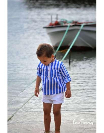 Conjunto Niño Noma Fernandez Sailor Rayas Azul