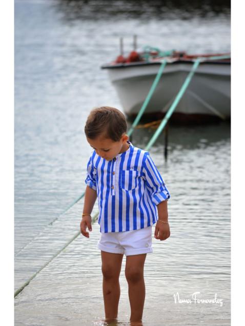 Camisa Niño Noma Fernandez Sailor Rayas Azul