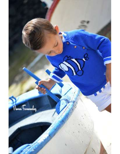 Jersey Niño Noma Fernandez Sailor Pez Azul