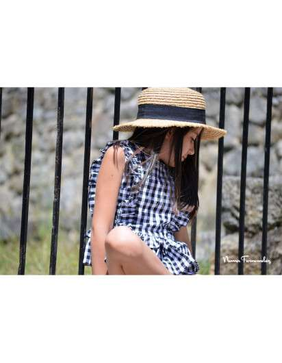 Conjunto Noma Fernandez Chiara Vichy Negro Short
