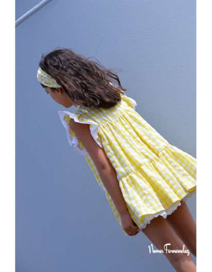 Vestido Noma Fernandez Olivia Vichy Amarillo