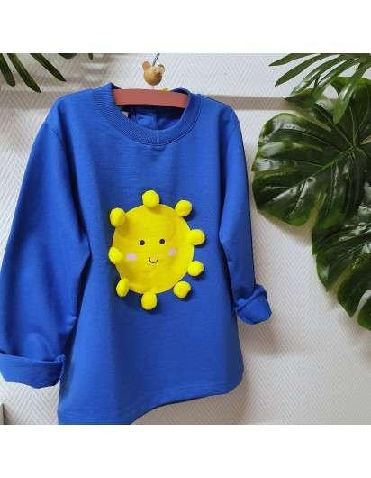 Sudadera Mon Petit Sol Azul Amarilla NIña