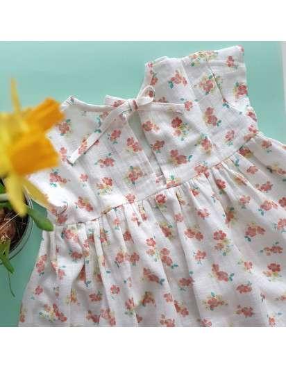 Vestido Baby Paris Rayas Flores Niña