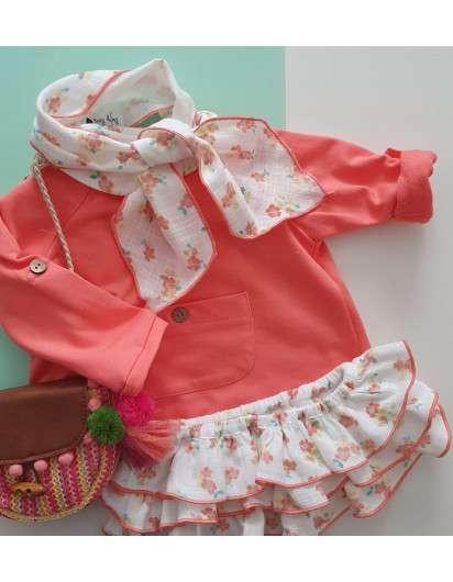 Cinta Baby Paris Flores Colores Niña