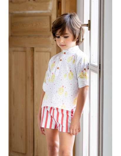 Camisa Kids Chocolate Limones Niño
