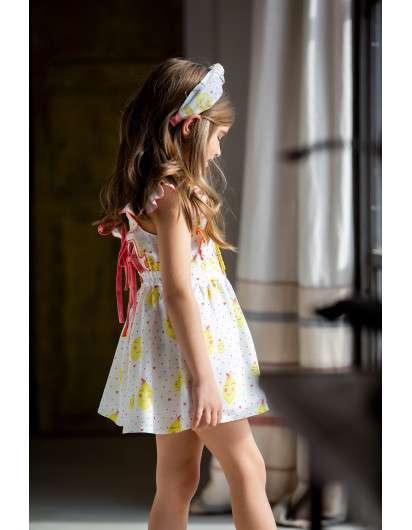 Vestido Pichi Kids Chocolate Limones Niña