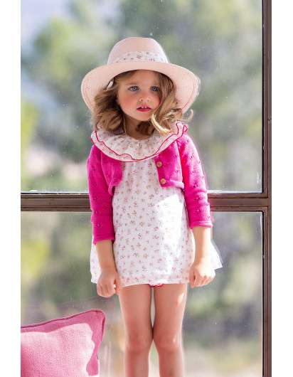 Chaqueta Kids Chocolate Fucsia. Coleccion Liberty