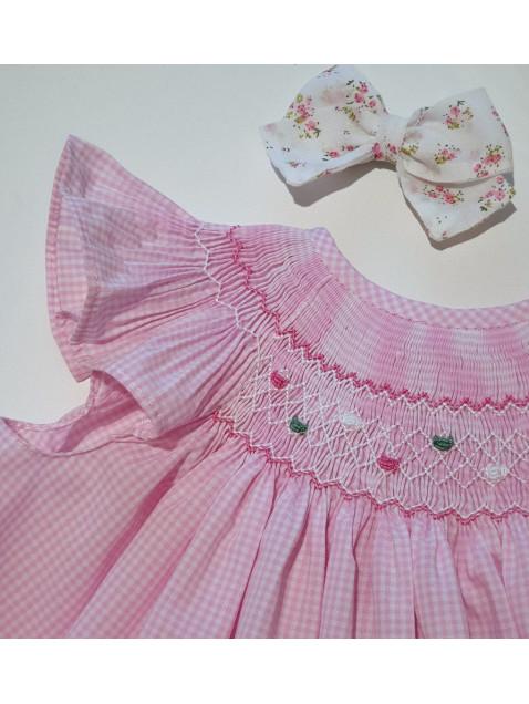 Vestido Smock Rosa Vichy DBB Ideas